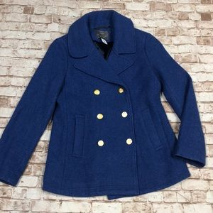 J. Crew Jackets & Coats - J Crew stadium cloth Nello Gory 10 blue gold